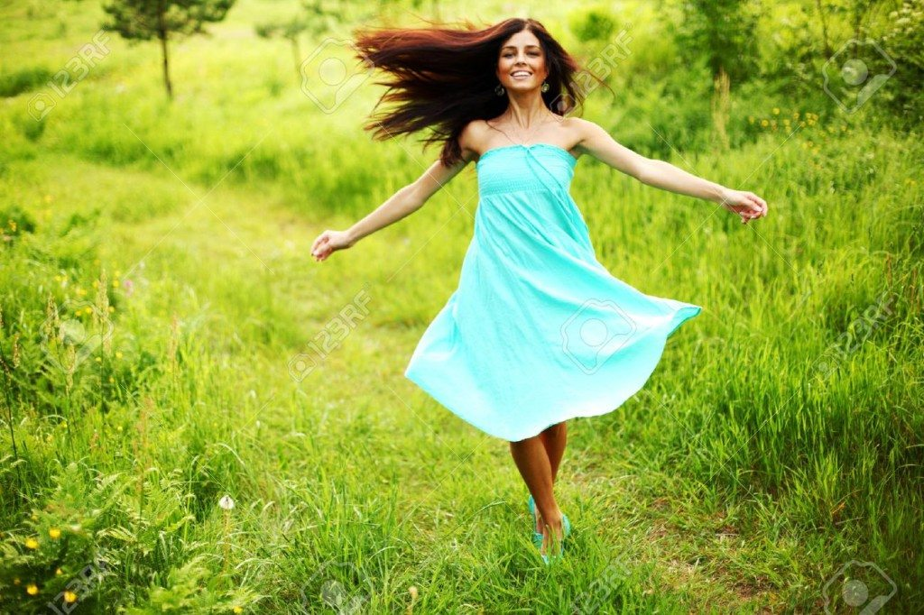 9208551-happy-woman-dance-in-forest-Stock-Photo-woman-freedom-nature